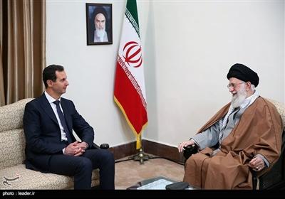 لقاء الرئیس السوری مع قائد الثورة الإسلامیة
