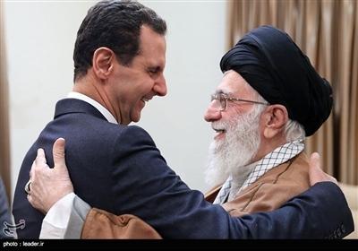 صدر بشار اسد کی امام خامنہ ای سے ملاقات