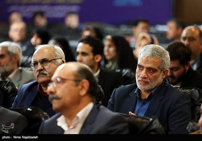 مجید قلی زاده مدیر عامل خبرگزاری تسنیم در مراسم رونمایی از فراخوان بینالمللی خوشنویسی یاس یاسین