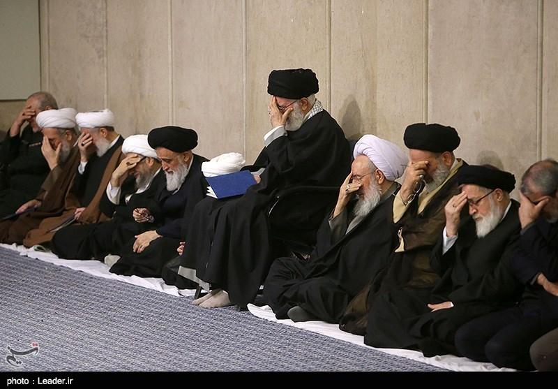 مراسم بزرگداشت آیتالله مؤمن با حضور رهبر معظم انقلاب در حسینیه امام خمینی(ره)