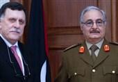 """دیدار خلیفه حفتر و """"سراج"""" در ابوظبی؛ توافق بر سر برگزاری انتخابات سراسری"""