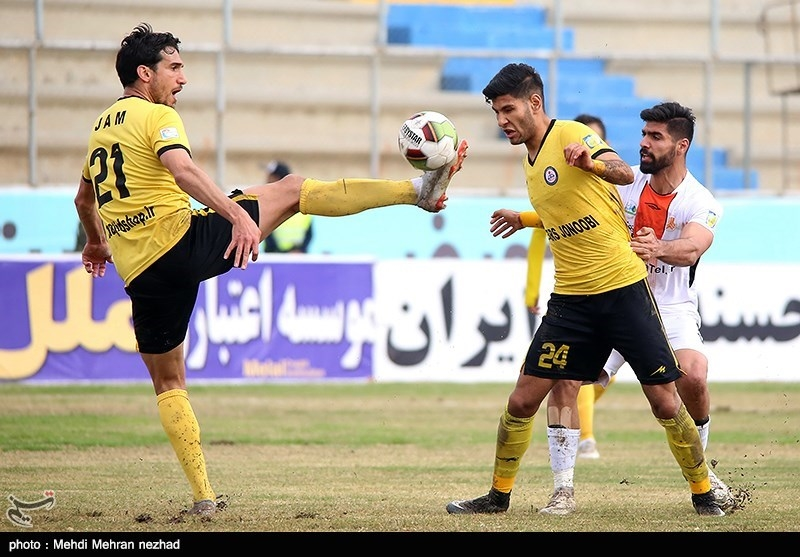 لیگ برتر فوتبال| تساوی پارس جنوبی و ماشینسازی در نیمه اول