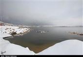 """الثلوج تغطی بحیرة """"شورابیل"""" فی اردبیل + صور"""