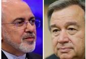 ایرانی وزیرخارجہ کا اقوام متحدہ کے سیکریٹری جنرل سے ٹیلیفونک رابطہ