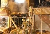 انفجار شدید در مغازه عرضه قلیان + تصاویر