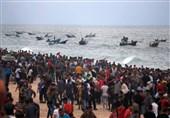 13 اصابة خلال قمع الاحتلال للحراک البحری شمال قطاع غزة