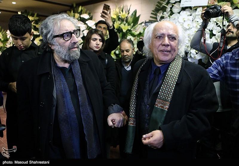 سیروس الوند و مسعود کیمیایی در مراسم ختم خشایار الوند