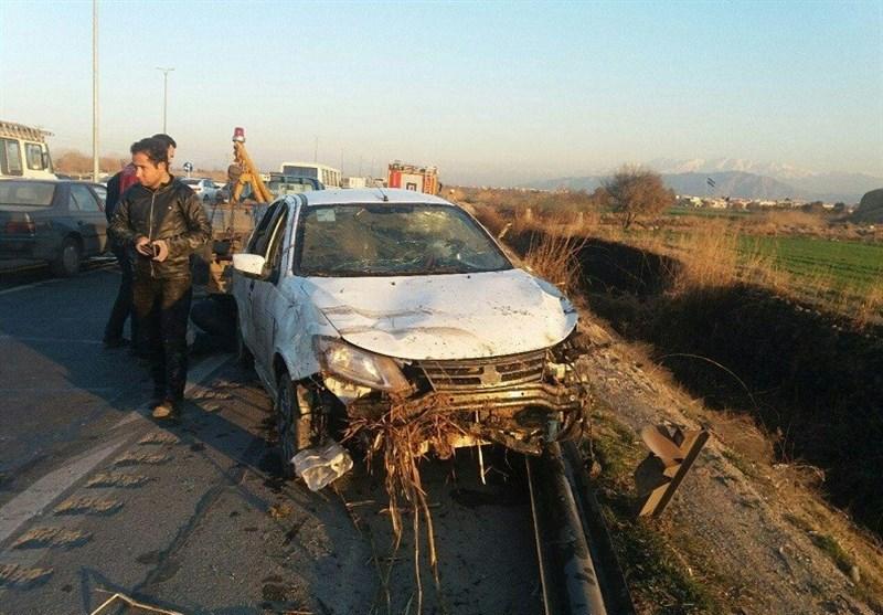 واژگونی مرگبار ساینا در جاده ورامین + تصاویر