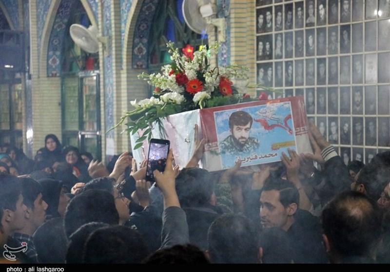 مراسم استقبال از شهید مدافع حرم «محمد قنبریان» در شاهرود برگزار شد