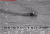 عقب نشینی زیردریایی هندی پس از دریافت اخطار از نیروی دریایی پاکستان+ویدیو