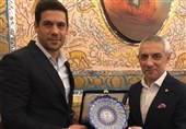 دیدار شکوری با نایب رئیس اول فدراسیون فوتبال بلاروس