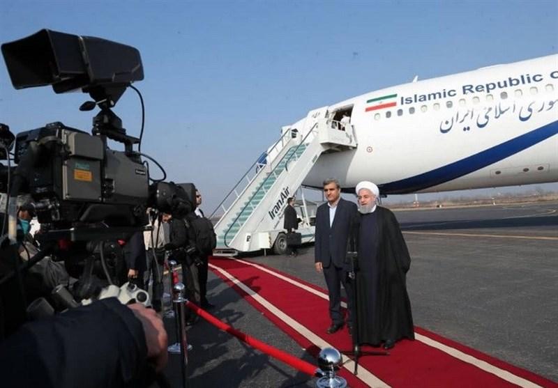 رئیس جمهور در فرودگاه رشت: برای عمل به وعدههایم آمدهام