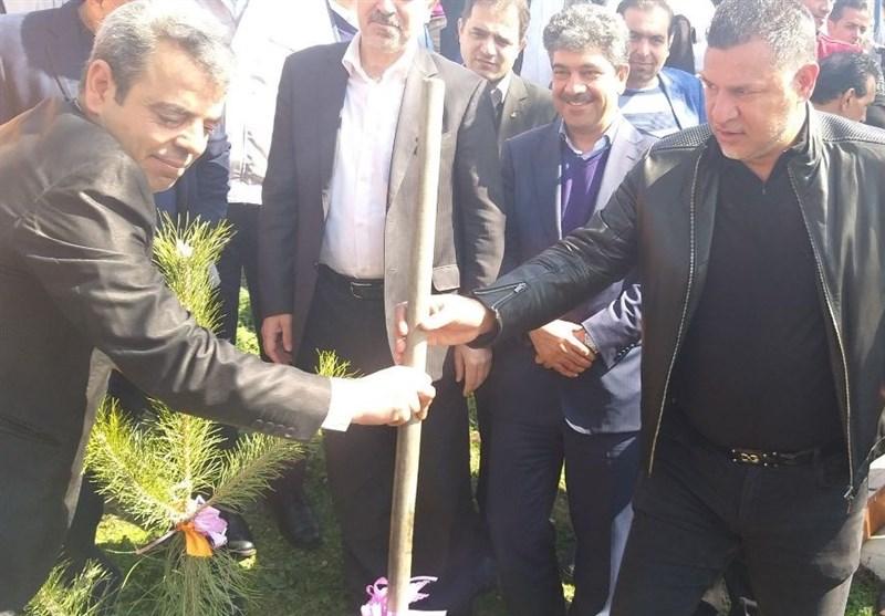 برگزاری مراسم روز درختکاری در باشگاه سایپا با حضور اهالی ورزش