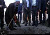 غرس نهال توسط آیتالله اعرافی و مسئولان استانی قم به روایت تصویر