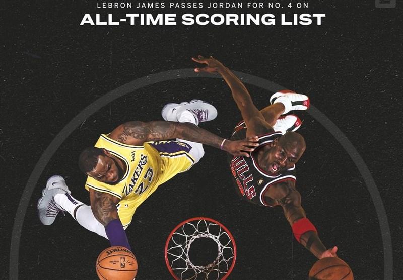 لیگ NBA  لبران جیمز رکورد مایکل جردن را شکست