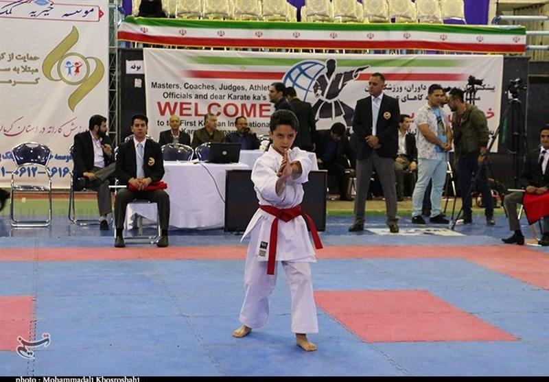 نخستین دوره پیکارهای بینالمللی کاراته در کرمان به روایت تصویر