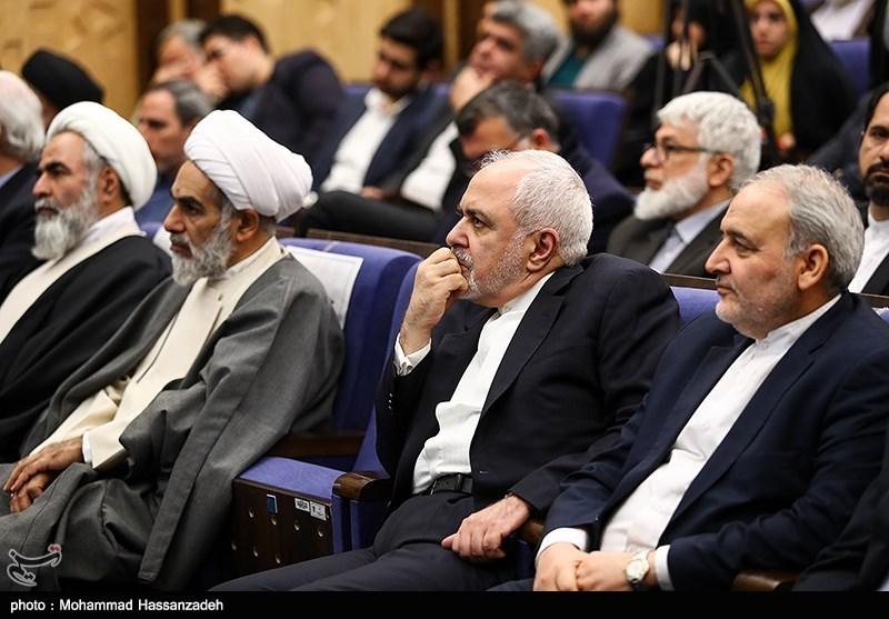 محمدجواد ظریف وزیر امور خارجه در همایش حکیم؛ محور وحدت