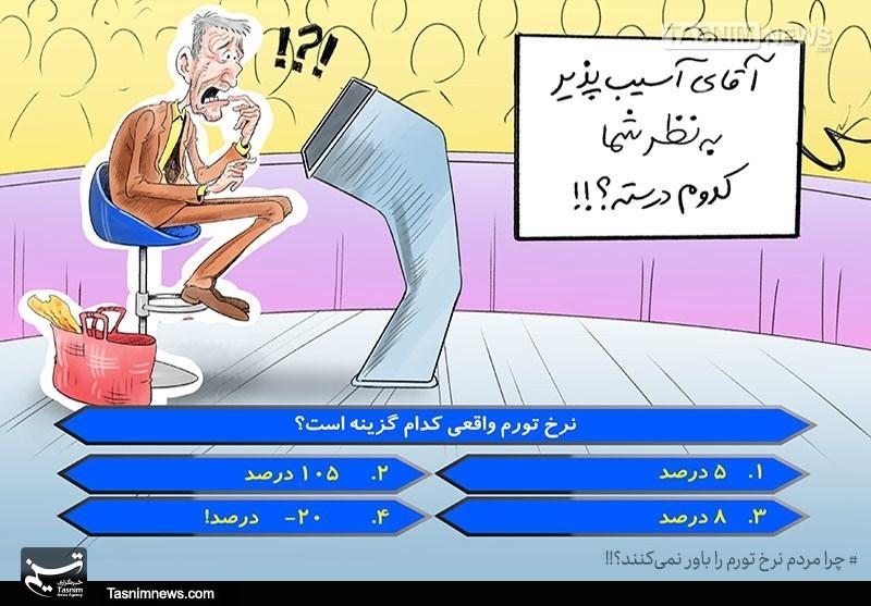 کاریکاتور/ به نظرشما نرخ تورم واقعی کدام گزینه است؟!!