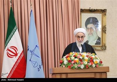 سخنرانی حجتالاسلام محمدی گلپایگانی رئیس دفتر مقام معظم رهبری در مراسم تودیع و معارفه رئیس قوه قضاییه