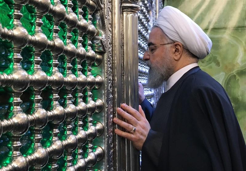 روحانی حرمین کاظمین را زیارت کرد+فیلم