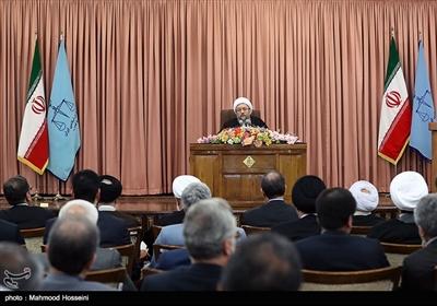 سخنرانی آیتالله صادق آملی لاریجانی رئیس اسبق قوه قضائیه