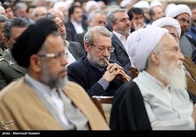 علی لاریجانی رئیس مجلس در مراسم تودیع و معارفه رئیس قوه قضاییه