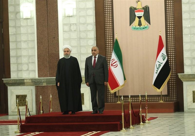 استقبال رسمی عادل عبدالمهدی از روحانی