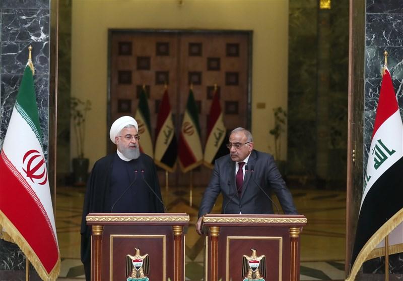 """گفتوگوی روحانی و """"عبدالمهدی"""" در زمینه همکاریهای مشترک دو کشور"""