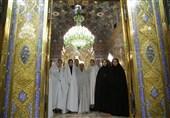 دختران شین آباد به بارگاه منور رضوی مشرف شدند
