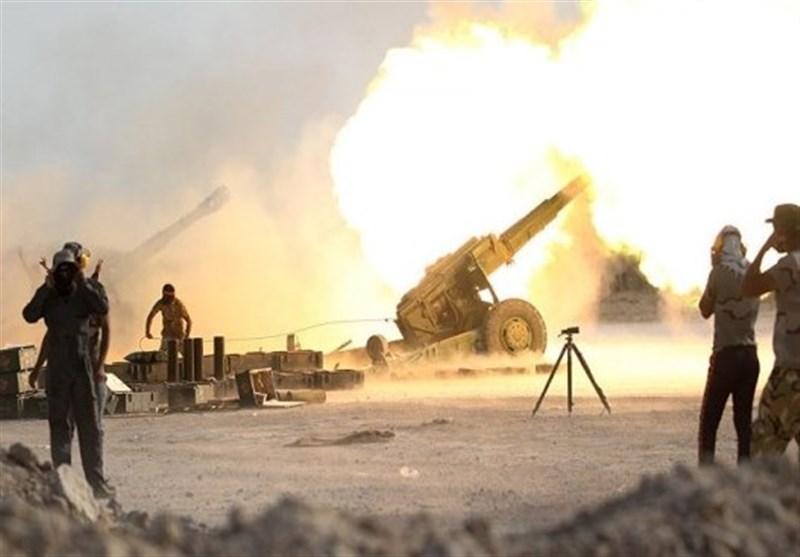 حمله توپخانهای ارتش عراق به آخرین مخفیگاههای داعش در شرق سوریه