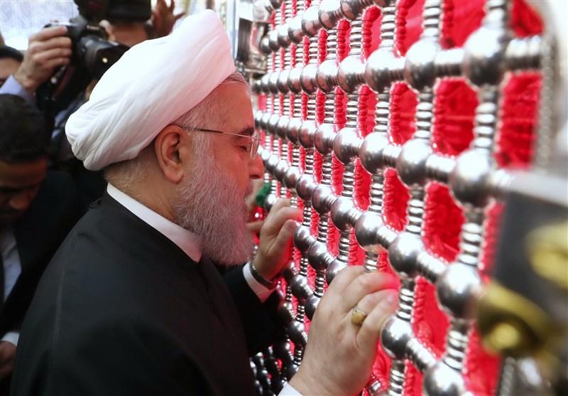 روحانی وارد نجف اشرف شد + تصاویر