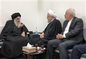 دیدار حسن روحانی با آیتالله سیستانی در نجف + عکس