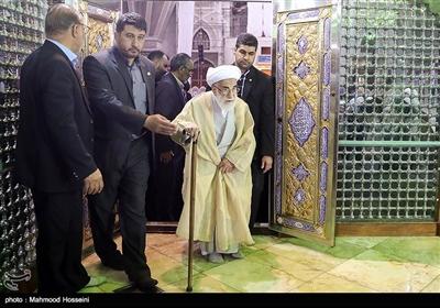 حضور آیت الله جنتی در تجدید میثاق اعضای مجلس خبرگان با آرمان های امام خمینی (ره)