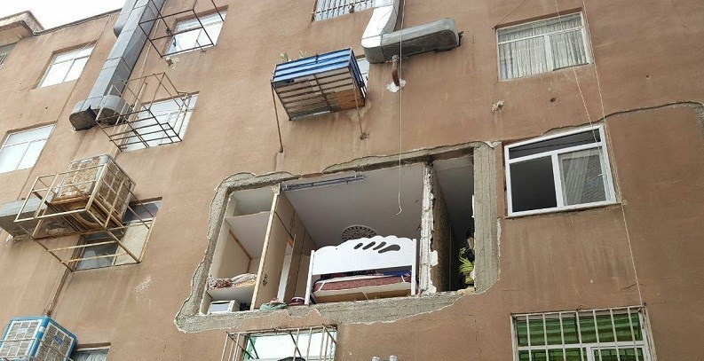 انفجار شدید در منزل 5 طبقه به دلیل نشت گاز + تصاویر