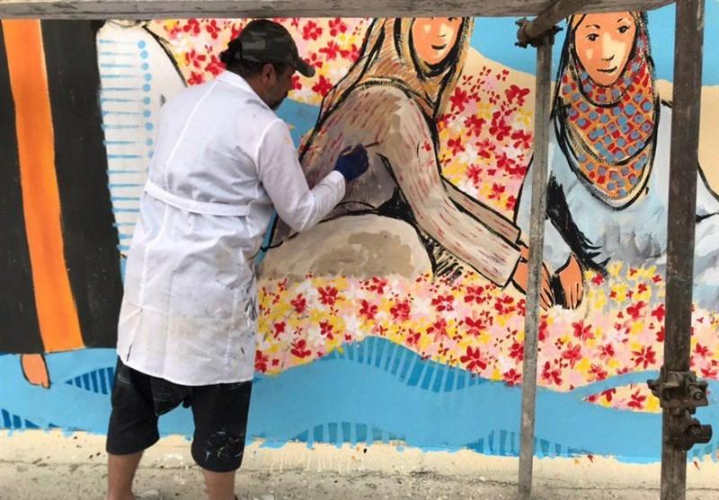 دیوارنگاران و نقاشان بینالمللی از تجربه حضور در مشهدمقدس میگویند