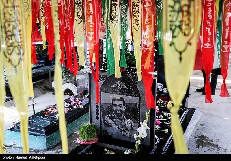 مزار شهدای مدافع حرم در آخرین پنجشنبه سال - بهشت زهرا(س)