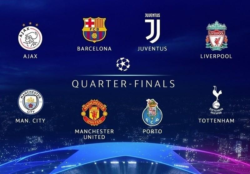 قرعهکشی مرحله یکچهارم نهایی لیگ قهرمانان اروپا|دوئل بارسلونا با منچستریونایتد/ رونالدو به قاتل رئال مادرید رسید