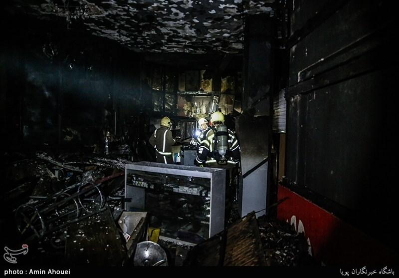 آتشسوزی فروشگاه زنجیرهای در کرمان مهار شد