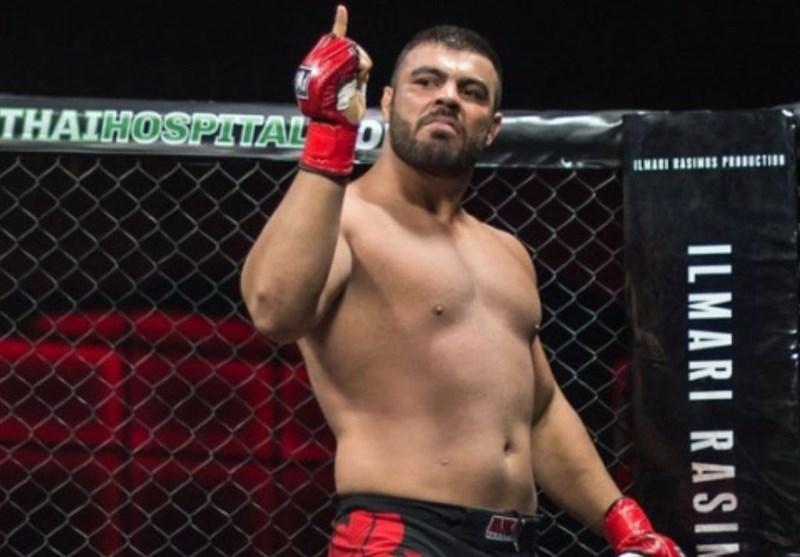 """برتری امیر علیاکبری مقابل """"قبر کَن"""" آمریکایی در مسابقات MMA/ پیروزیهای شیر ایرانی دو رقمی شد"""
