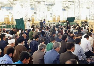 حضور رئیس قوه قضاییه در نماز جمعه مشهد مقدس+ تصویر