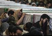 مراسم وداع زائران راهیان نور با پیکرهای مطهر 115 شهید در معراج شهدای اهواز