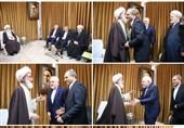وزیر امور خارجه با آیتالله نوریهمدانی دیدار کرد