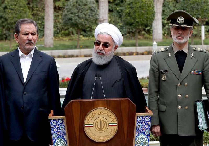 روحانی: هرچه لعنت دارید به آمریکا و صهیونیسم بفرستید/محاسبات ما مورد تحسین جهان است