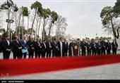 حجتالاسلام حسن روحانی رئیس جمهور و اعضای هیئت دولت در جمع خبرنگاران - حاشیه آخرین جلسه هیئت دولت در سال 97
