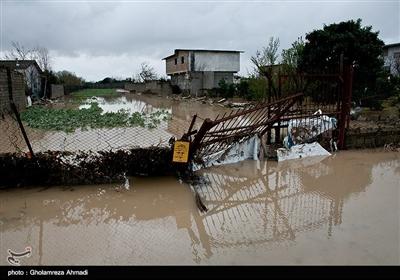 سیل و آبگرفتگی در روستاهای پنبه چوله ، صالح آباد و بهار آباد ساری
