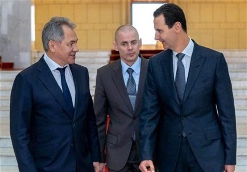 دیدار وزیر دفاع روسیه با رئیسجمهور سوریه در دمشق؛ پیام پوتین تقدیم اسد شد