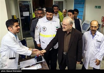 سعید نمکی وزیر بهداشت و پیرحسین کولیوند رئیس اورژانس کشور