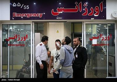 مصدومان شب چهارشنبه آخر سال - بیمارستان مطهری