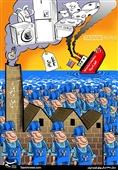 کاریکاتور/ سال رونق تولید ایران و افول آمریکا