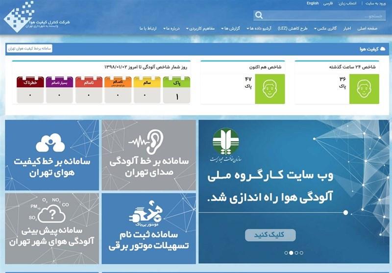 هوای تهران در دومین روز از بهار 98 سالم است